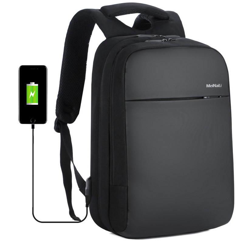 Anti theft backpack USB rechargeable business computer bag waterproof travel backpack for CUHK students - 2