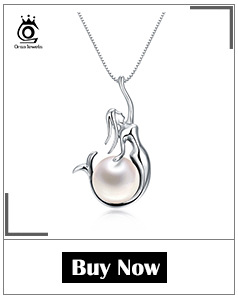 H2a9ee8e593f443ef8bc93371e99500aaw ORSA JEWELS 925 Sterling Silver Women Necklaces&Pendants Freshwater Pearls Unique Mermaid Pendants Fashion Female Jewelry PSN48