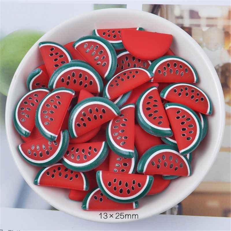 3pcs Rubber Fruit Slices Slime Charms Slime Supplies For Fluffy Slime DIY Clear Slime Accessories Putty Clay Toys Kids Y51E