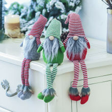 Новые горячие Счастливого Рождества длинные ноги шведский Санта гном плюшевые куклы эльф игрушки подарки украшения