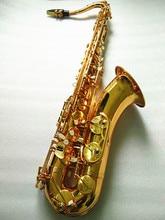 Tenor Saxophone ยี่ห้อใหม่ Tenor Sax เครื่องดนตรี Professional Tenor Sax Gold Lacquer ปากเป่า Reeds คอและกรณี