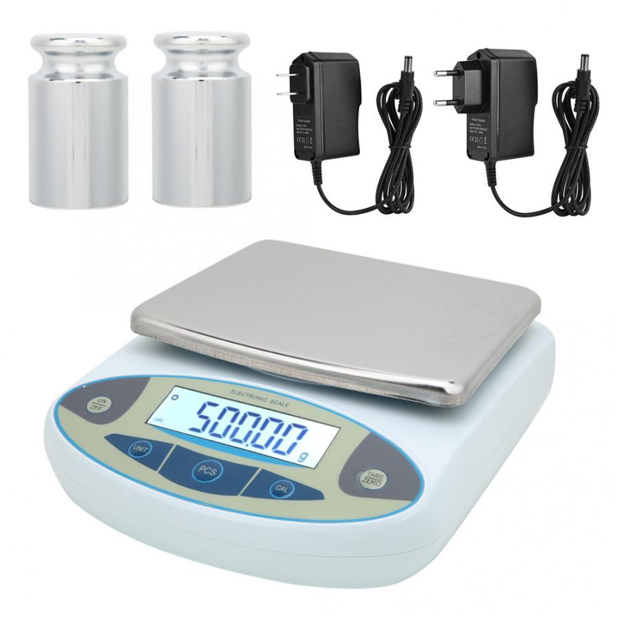 Tournevis Hexagonal Pesas 2kg 0.01g Balance électronique analytique de laboratoire haute précision numérique avec 2 poids
