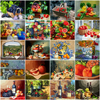 HUACAN Paint By Number Fruit Flower DIY Drawing Canvas Handpainted Pictures By Number Still Life Home Decoration