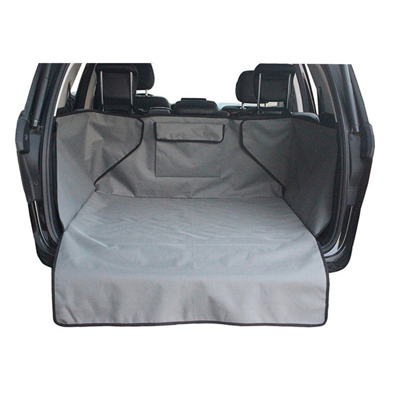 Pet Car Cover Waterproof Trunk Mat Dog Pets Cargo Liner Non Slip Car Protector Back Seat Cover Pockets For Auto Accessories