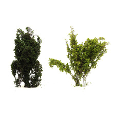 цена на Plant Model Tree Toy Green Simulation Plant Building DIY Scene Production Yellow Green / Green Train Building
