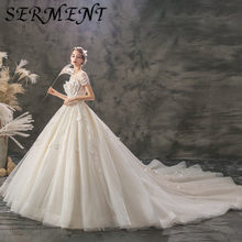 Wedding dress 2019  explosions spot large size sexy beautiful noble luxury simple discount French wedding