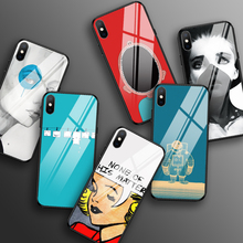 Tempered Glass Case for iPhone 6 7 8 Plus 11 pro max Shockproof Case for iPhone XR X XS MAX Funny Back Covers for iPhone 5 5s SE tempered glass case for iphone xr x xs max 11 pro max flower shockproof case for iphone 6 6s 7 8 plus 5 5s se color back cover