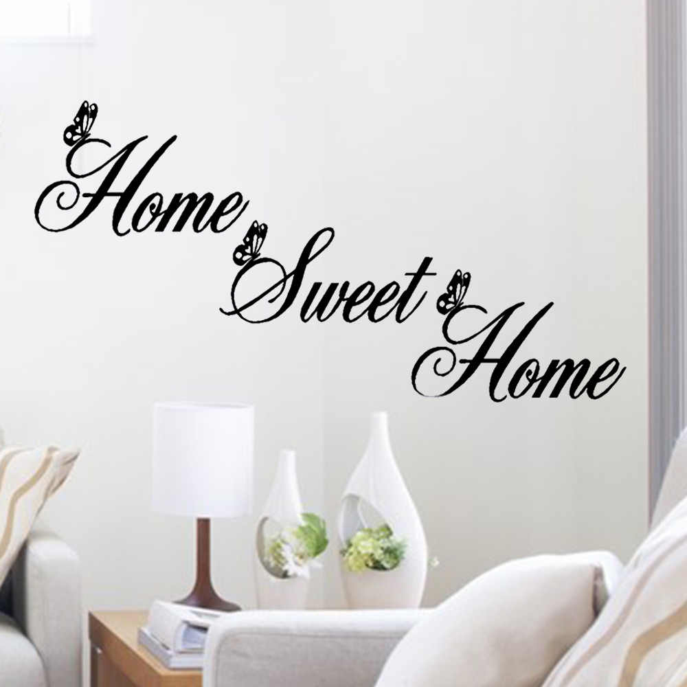 DIY English Stickers Home Sweet Decor Wall Stickers DIY Removable Art Vinyl Wall Sticker Adhesivos De Pared Decoracion