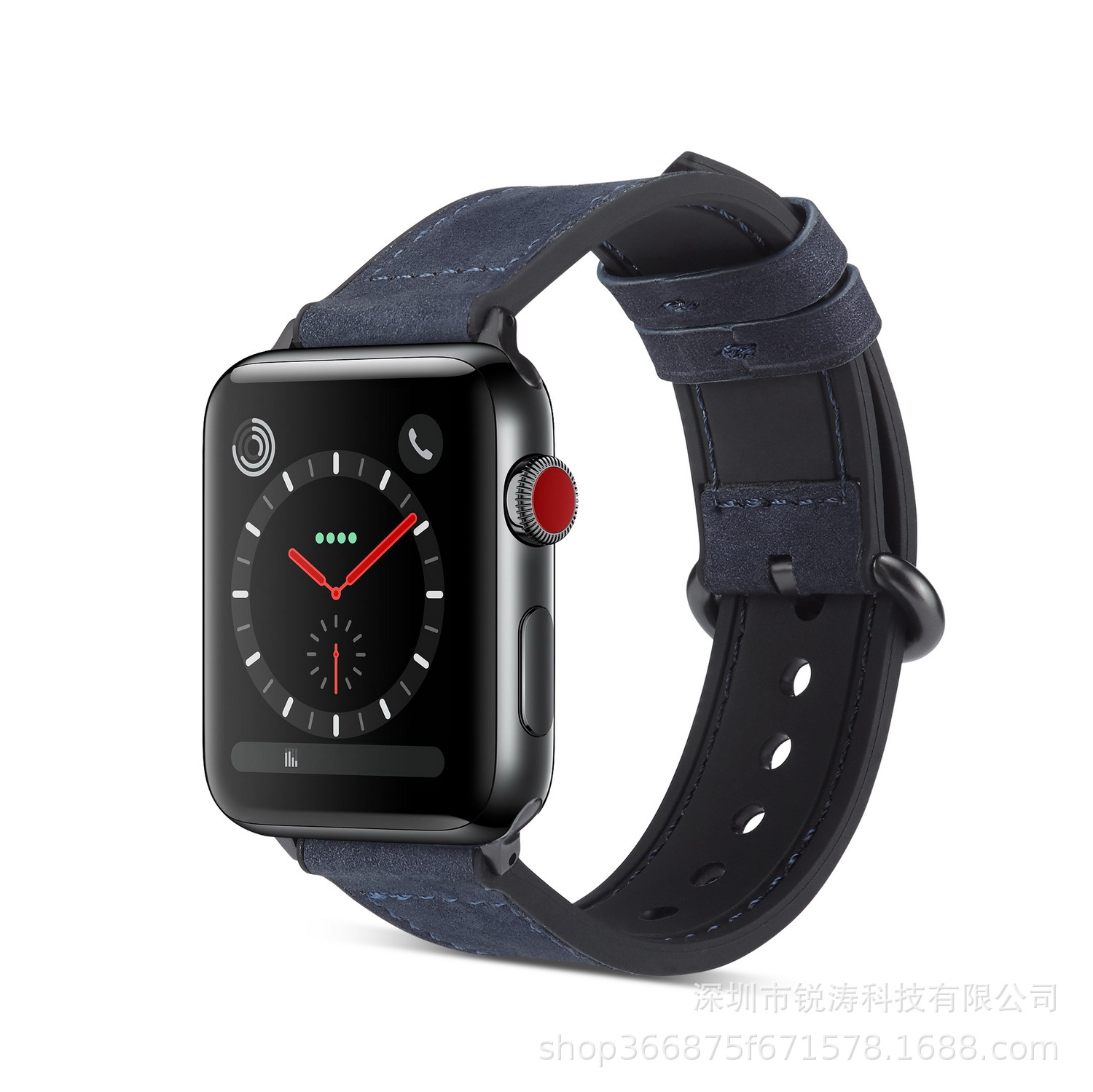 For Apple Watch 4 Generation Retro Dull Polish Watch Strap APPLE Watch Iwatch4 S Natural Leather Men's Wholesale