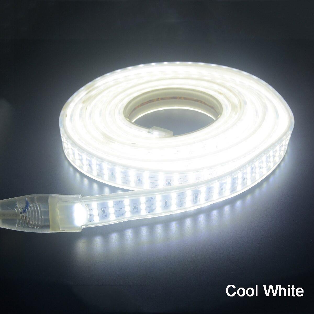 LED Strip 220 V SMD 2835 276 LEDs/M 1 M 2 M 4 M 5 M 6 M 7 M 8 M 9 M + EU Plug