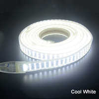 Led streifen Licht 220v SMD 2835 flexible band 276 leds/m 1m 2m 4m 5m 6m 7m 8m 9m + Power EU stecker
