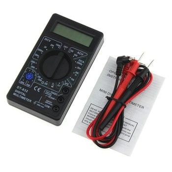 DT-832 Mini kieszonkowy multimetr cyfrowy 1999 zlicza AC DC Volt Amp Ohm dioda hFE Tester ciągłości amperomierz woltomierz omomierz tanie i dobre opinie albabkc CN (pochodzenie) YB50601