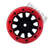 4PCS RC Rock Crawler Plastic 2.2 Beadlock Wheel Rim for 1/10 Axial SCX10 RR10 Wraith Yeti RC Car 4