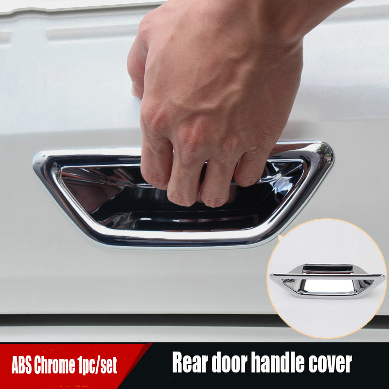 Accessories FIT FOR 2014-2016 <font><b>NISSAN</b></font> XTRAIL <font><b>X</b></font>-<font><b>TRAIL</b></font> 32 ROGUE CHROME REAR TRUNK BOOT <font><b>DOOR</b></font> LID <font><b>HANDLE</b></font> BOWL COVER TAILGATE INSERT image