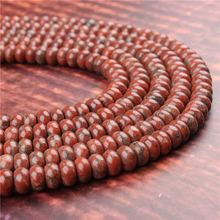 Natural South Redstone Gem 5x8x4x6MM Abacus Bead Spacer Bead Wheel Bead Accessory For Jewelry Making Diy Bracelet Necklace