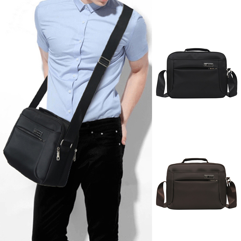 Men's Fashion Casual Solid Color Business Outdoor Messenger Bags Casual Man Bag Shoulder Handbags Briefcases Business Office