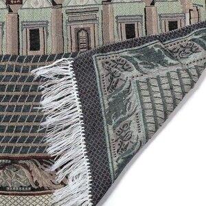 Image 5 - 110x70cm Islamic Prayer Mat Muslim Prayer Rug Turkish Muslim Salat Namaz Islam Floor Carpet Mat Blanket Arabian Type Home Decor