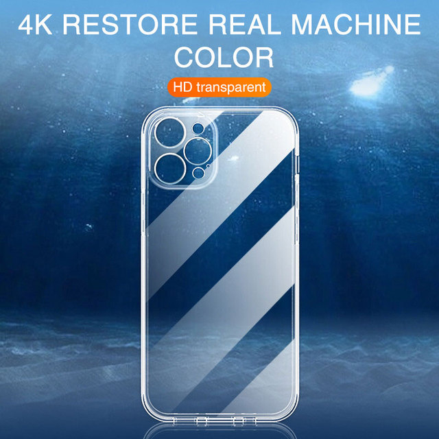 Ultra Thin Lens Protection Case For iPhone 12 Mini 11 Pro Max XR X Xs Max 6 7 8 Plus SE 2020 Soft Clear Silicone Case Back Cover 5