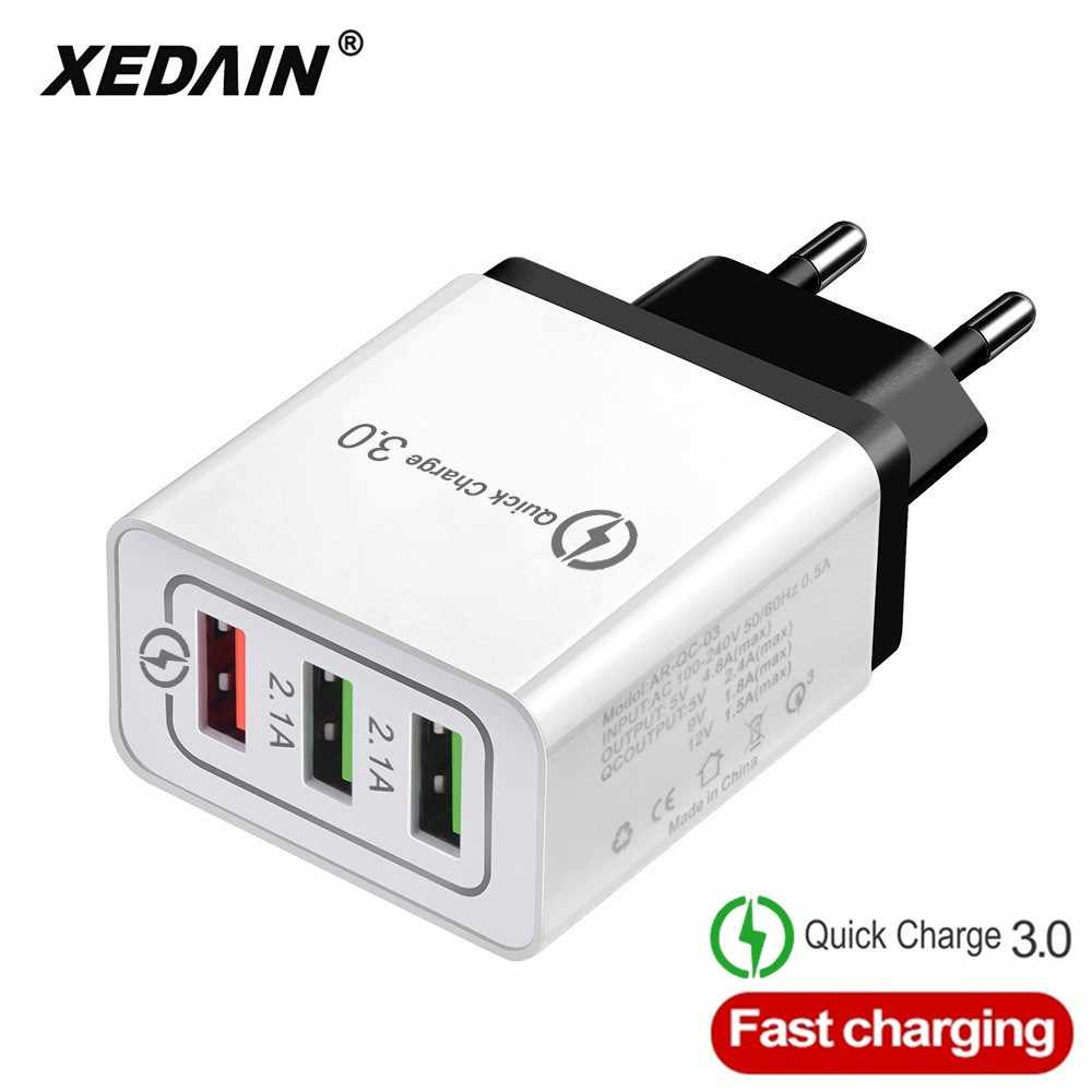 Cepat Charger USB Charger Pengisian Cepat 3.0 EU/US Plug Charger Dinding Charger untuk Apple Iphone X Samsung huawei Xiaomi Charger
