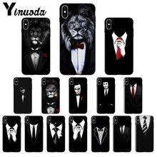 Yinuoda Man Suit Shirt Tie TPU Soft Silicone Phone Case Cover for Apple iPhone 8 7 6 6S Plus X XS MAX 5 5S SE XR Mobile Cases