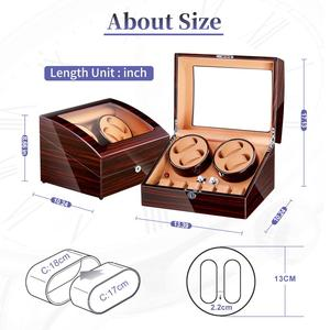 Image 5 - Watch Winder for Automatic Watches New Version 4+6 Wooden Watch Accessories Box Watches Storage Collector
