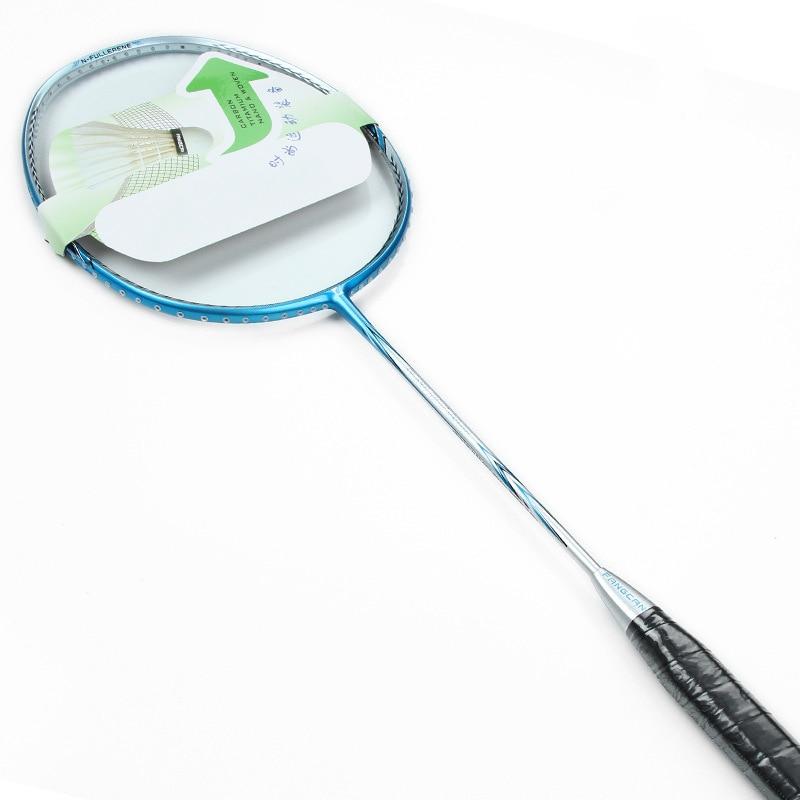 1pcs Professional Badminton Rackets Carbon Fiber 3u Family Badminton String Racquet Lightest Playing Beach Racket