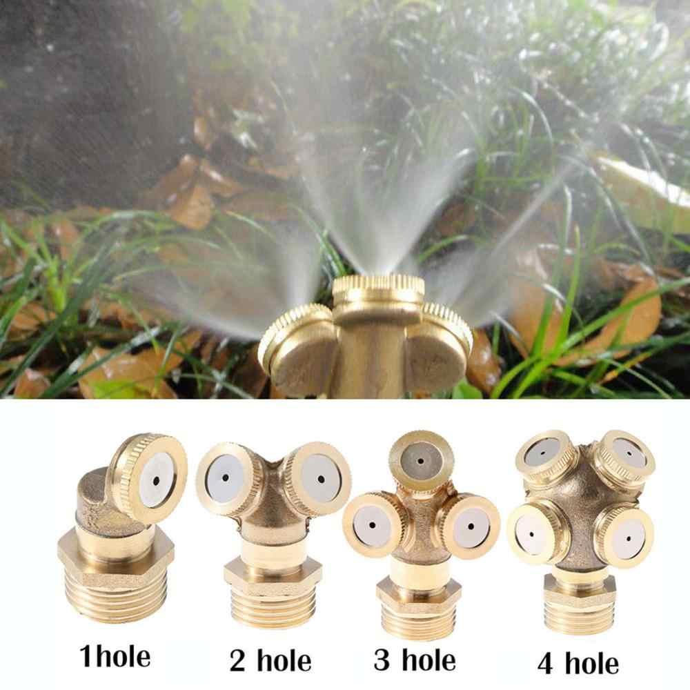 Garden Misting Lawn Irrigation Auto Sprinkler Spray Head Nozzle Sprayer Brass