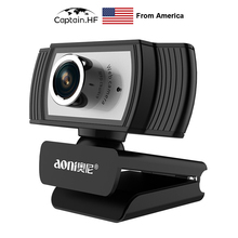 US Captain C33 Webcam 1080p HD Web Cam with Built-in Microphone,  USB 3MP Camera, Video Calls Webcam, Online Teaching 1 3mp 960p hd cmos ar0130 low light hd usb webcam industrial microscope endoscope telescope camera with 2 8 12mm cs mount lens