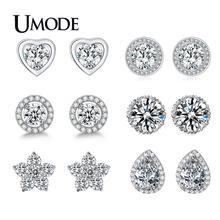 UMODE Brand Pear Cut AAA+ Cubic Zirconia Diamond Stone Water Shaped Post Stud Earrings For Women Fashion Jewelry brinco UE0026