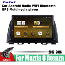 ZaiXi Android Car 2 din multimedia GPS Navigation For Mazda 6 Atenza 2012~2016 vedio stereo Radio audio wifi video map