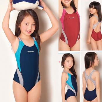Dziewczęta sportowe stroje kąpielowe jednoczęściowe szkolenie zawodowe stroje kąpielowe dla dziewczynek 3-10 lat dzieci sportowe stroje kąpielowe upf50 + G30-SW276 tanie i dobre opinie CN (pochodzenie) NYLON spandex Dziewczyny Cartoon Pasuje prawda na wymiar weź swój normalny rozmiar girls training Swimsuit