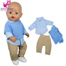 43 cm bebê boneca trajes pulôver camisa blusa adequada para 18 Polegada roupas de boneca menino