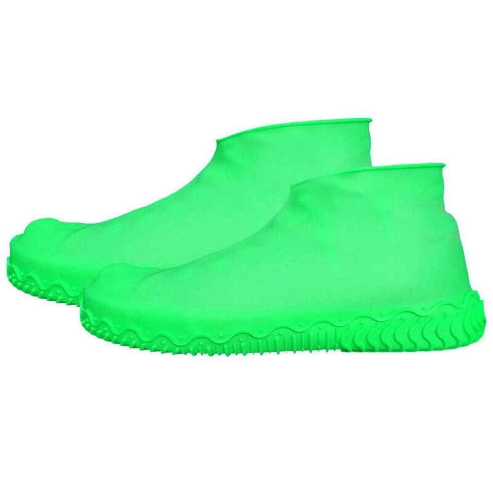 Yağmurlu bir gün için ayakkabı çizme kapağı Unisex kaymaz kullanımlık lateks ayakkabı kapakları erkek kadın su geçirmez yağmur botu galoş ayakkabı