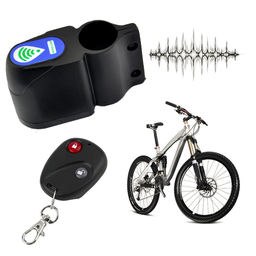 Bike Anti-theft Lock Cycling Security Wireless Remote Control Vibration Alarm