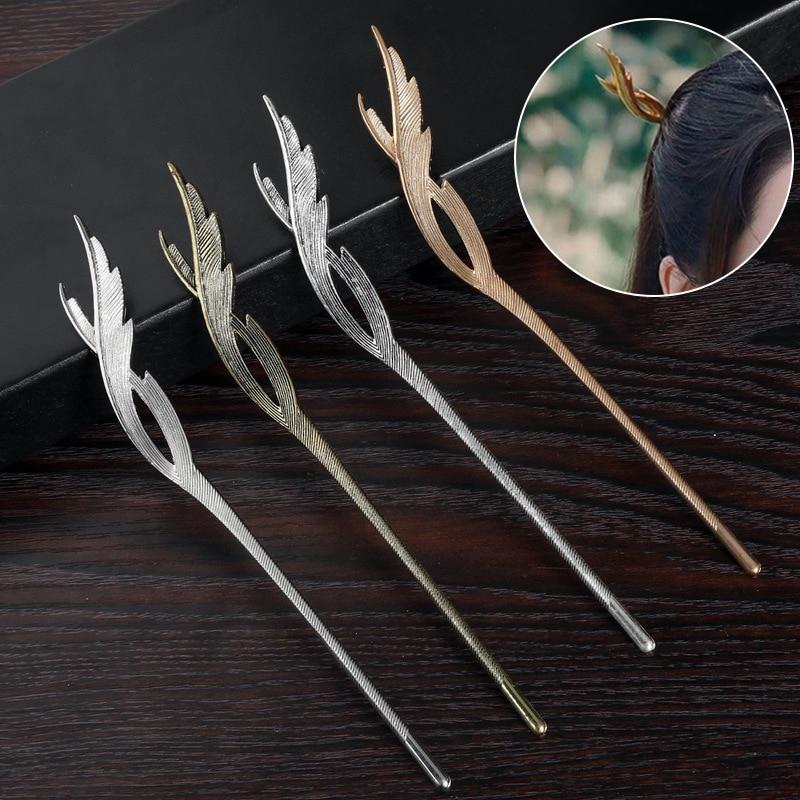 Винтажные женские шпильки для волос, Шпилька для волос в китайском стиле, металлическая шпилька для волос ручной работы в этническом стиле, ...