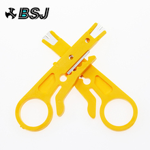 цена на Portable 2pcs Mini Wire Stripper Knife Network Cable Crimping Pliers Hand Tool Stripping Wire Cutter Multi Tools Hand Tools