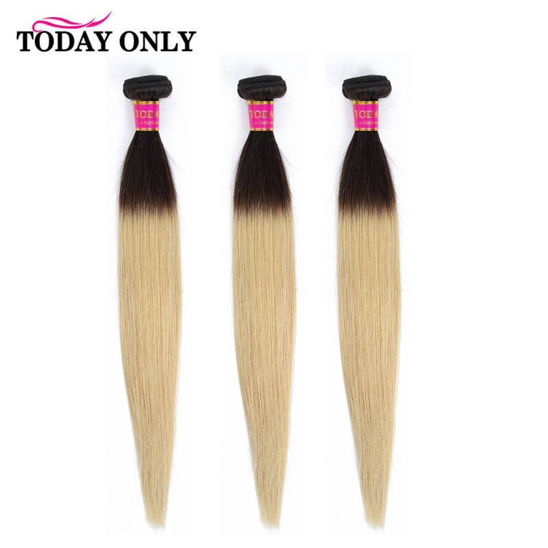TODAY ONLY 3 / 4 Bundles Blonde Brazilian Straight Hair Bundles Ombre Human Hair Bundles 1b 27 Brazilian Hair Weave Bundles Remy