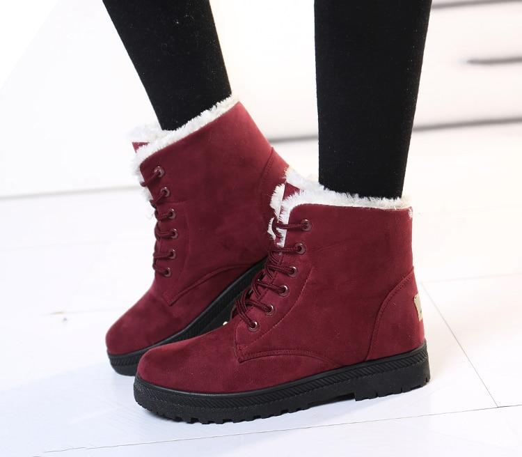 de neve femininas botas mujer quente sapatos