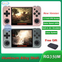 2020 Full View 3.5 Full View IPS Screen RG350M Retro Game Console Linux OS Aluminum Alloy Shell PS1 Emulators RG350 Game Player