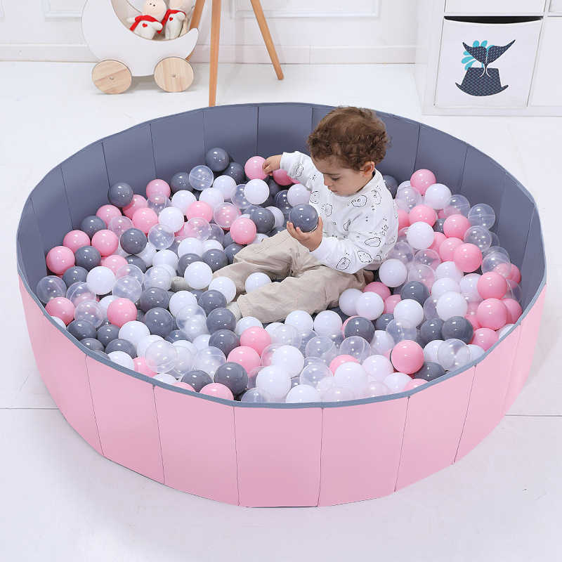 Large 120 * 30 cm Ocean Ball Pool Children's Household Folding Pool Toy Indoor Fence Baby Bubble Pool Wave Game Colored Balls