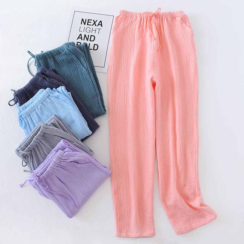 De Los Hombres Y De Las Mujeres De Algodon Pantalones Largos De Estilo Suelto Pantalones De