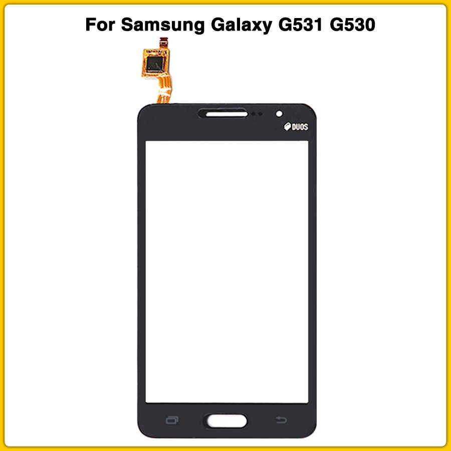 شاشة تعمل باللمس لسامسونج غالاكسي جراند برايم G530 G530H G530F G531 G531F لوحة اللمس محول الأرقام الاستشعار شاشة LCD الزجاج الأمامي