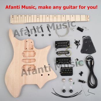 Nowy projekt! Afanti muzyka bezgłowy zestaw DIY gitara DIY gitara elektryczna (ZQN-010) tanie i dobre opinie Maple MAHOGANY Beginner Do profesjonalnych wykonań Unisex Nauka w domu CN (pochodzenie) Drewno z Brazylii Electric guitar
