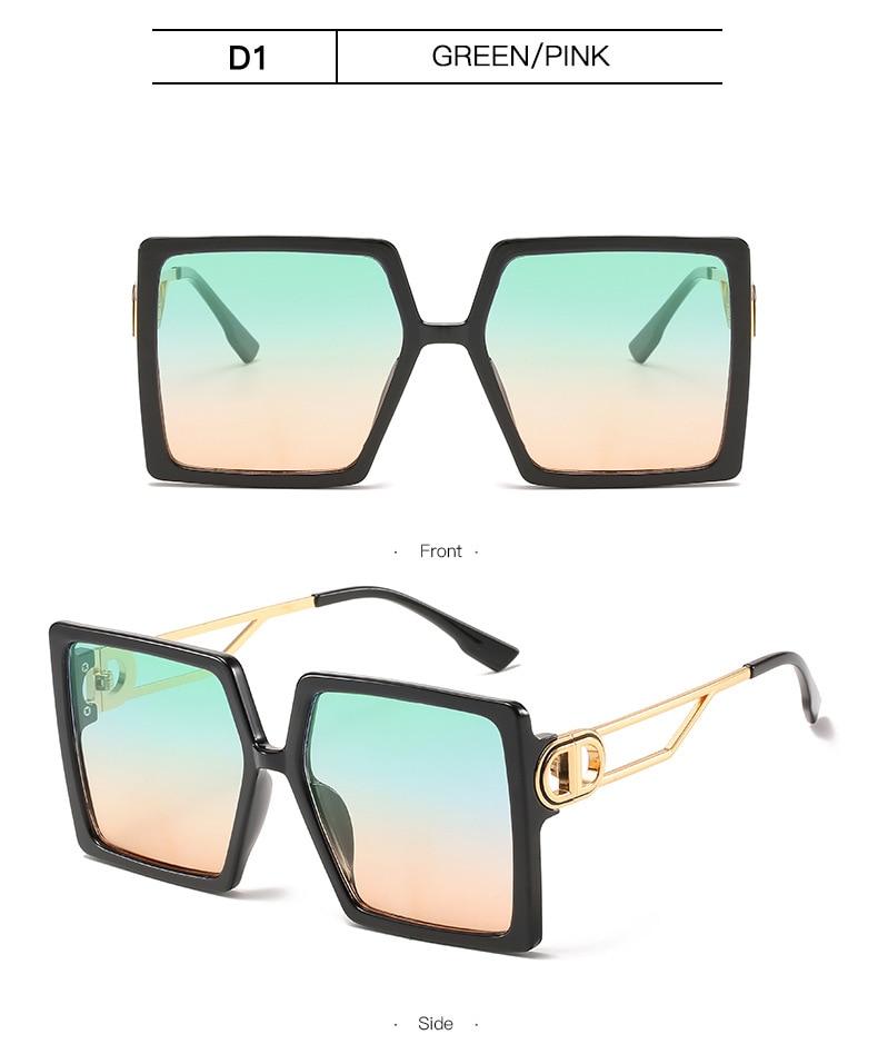 Fashion Sunglass Designer Luxury Brand Square Sunglasses Women Vintage Oversized 2021 trend Female Sun Glasses Shades For Women (13)