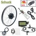 Шак е-байка 36В 500 Вт Электрический велосипед Conversion kit 16-28 дюймов 700C передний мотор для центрального движения колеса  фара для электровелосипе...