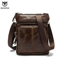BULLCAPTAIN Messenger Bag Men's One Shoulder Leather