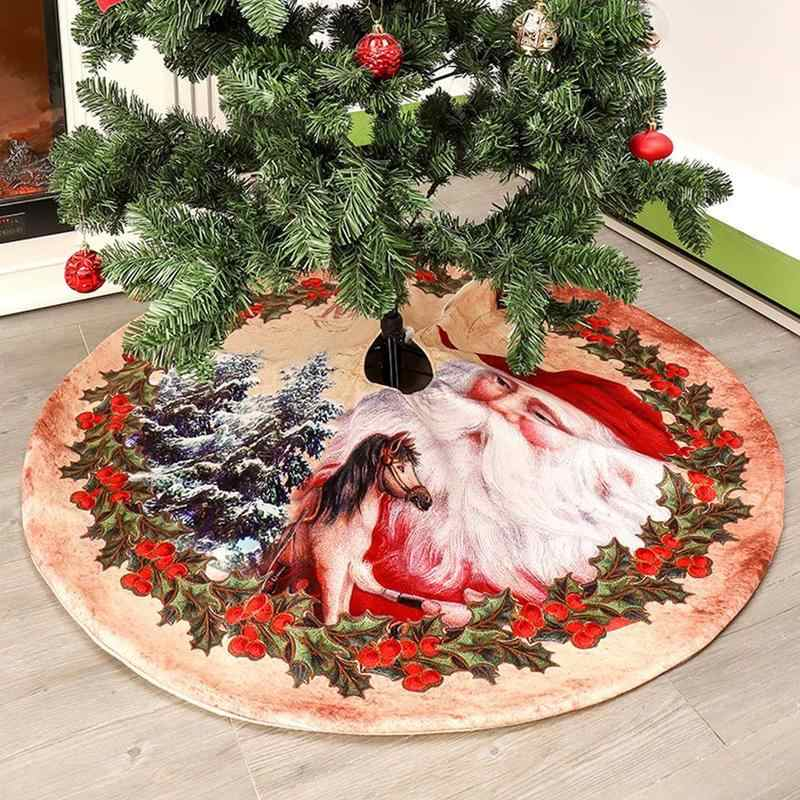 2019 New Activity Cushion Christmas Tree Foot Cover Christmas Tree Skirts Embroidery Short Velvet Carpet Mat Kids Gift Storage