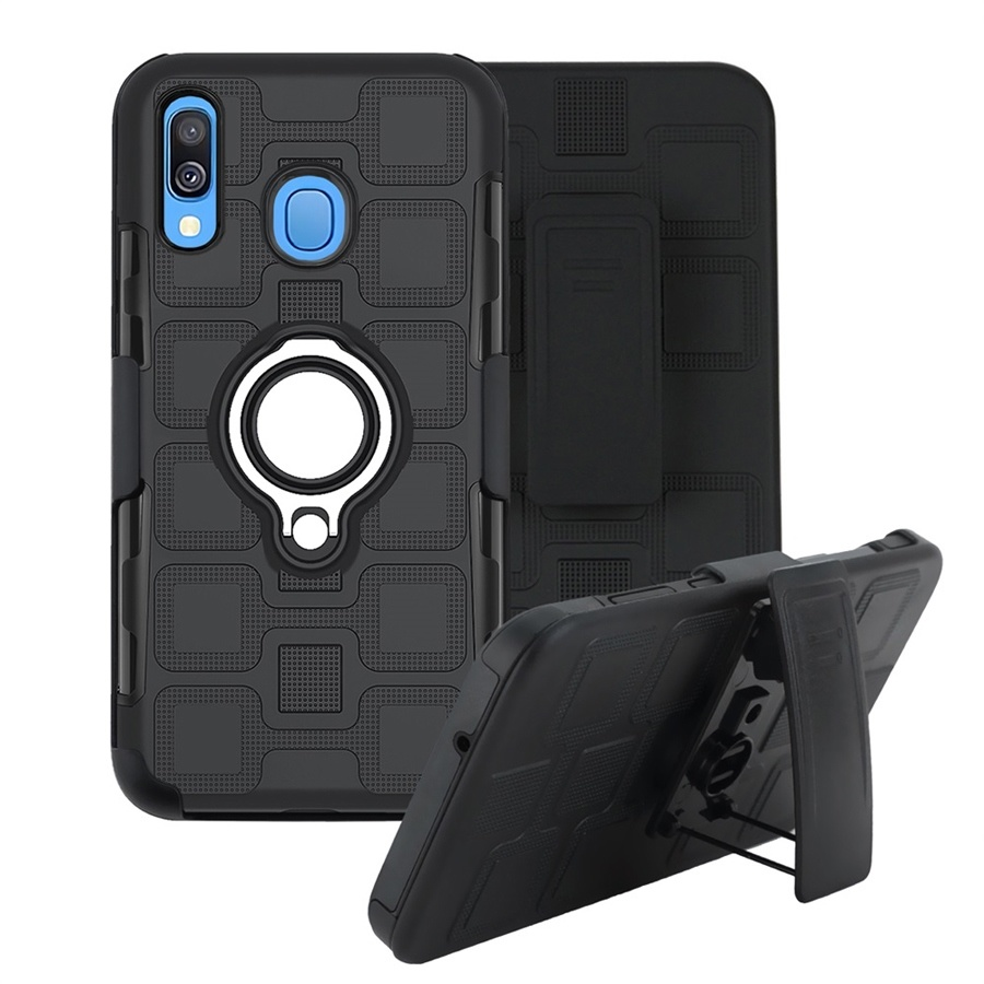 Heavy Duty Armor Back Cover Case for Samsung Galaxy A10 20 30 40 <font><b>50</b></font> 60 70 <font><b>80</b></font> 90 10S 10E 20S 20E 40S 01 31 A51 A71 With Belt Clip image