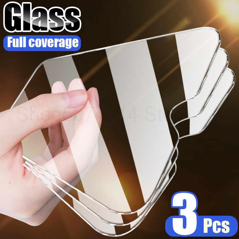 Tela protetora para celular 3pçs 9h, filme de vidro temperado para redmi 8 8a 7 7a 6 6a, redmi vidro protetor hd note 8t 8 7 5 6 pro