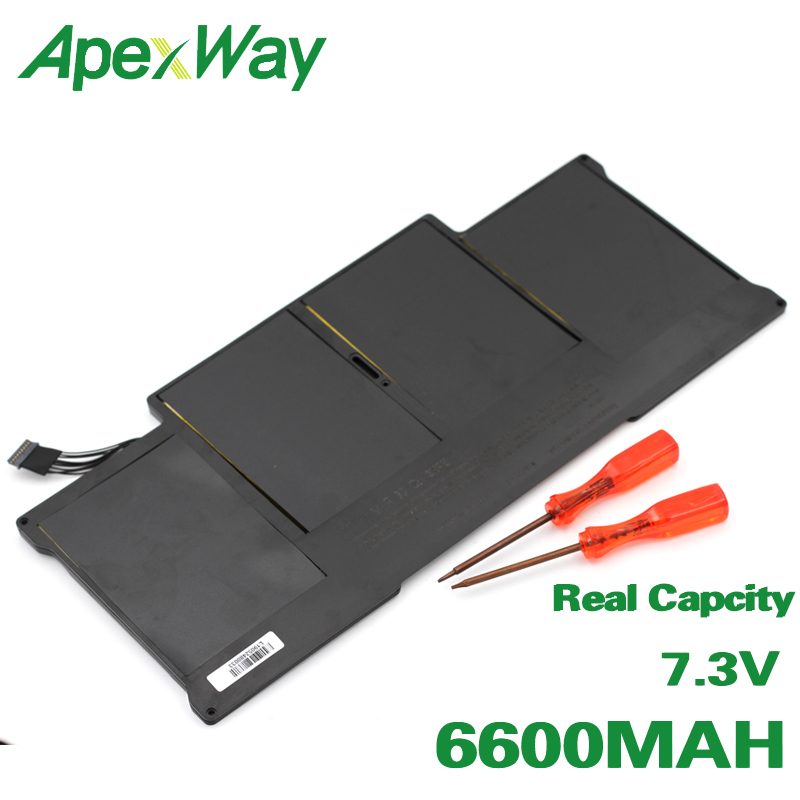 ApexWay 7.3V 6600mAh batterie d'ordinateur portable Pour Apple MacBook Air 13